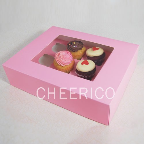 12 Pink Cupcake Window Box ($2.50/pc x 25 units)