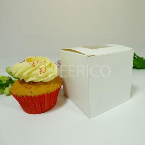 1 Cupcake Top Window Box w finger hole ($0.95pc x 25 units)