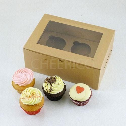 2 Cupcake Kraft Window Box($1.35/pc x 25 units)