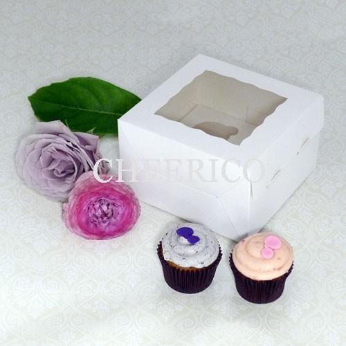 4 Window Mini Cupcake Box ($1.30/pc x 25 units)