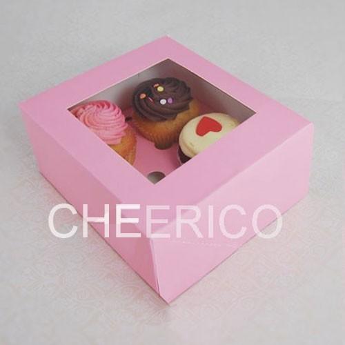 4 Pink Cupcake Window Box ( $1.50/pc x 25 units)