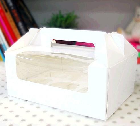 6 Cupcake Window Box with Handle($1.65/pc x 25 units)