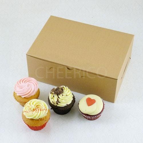 6 Cupcake No Window Kraft Brown Box($1.60/pc x 25 units)