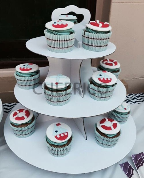 3 Tier Disposable Cupcake Stand