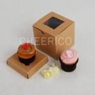 1 Kraft Brown Window Mini Cupcake Box ($1.00/pc x 25 units)