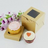 1 Kraft Brown Window Cupcake Box ($1.05/pc x 25 units)