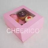4 Pink Cupcake Window Box ( $1.50/pc x 25 units)