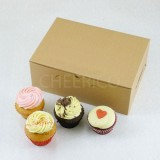 6 Cupcake No Window Kraft Brown Box($1.60/pc x 25 units)