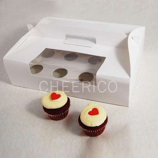 12 Cupcake Window Box with Handle($2.50/pc x 25 units)