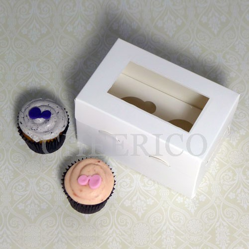 2 Cupcake Window Boxes($1.35/pc x 25 units)