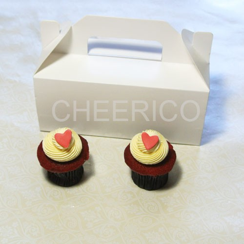 2 Cupcake Box with Handle($1.30/pc x 25 units)