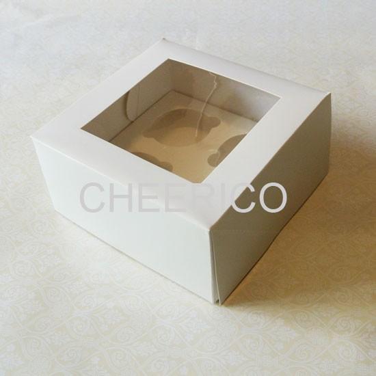 4 Cupcake Window Box ( $1.50/pc x 25 units)
