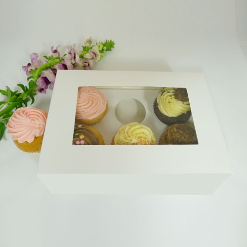 6 Cupcake Window Box w finger hole($2.00/pc x 25 units)