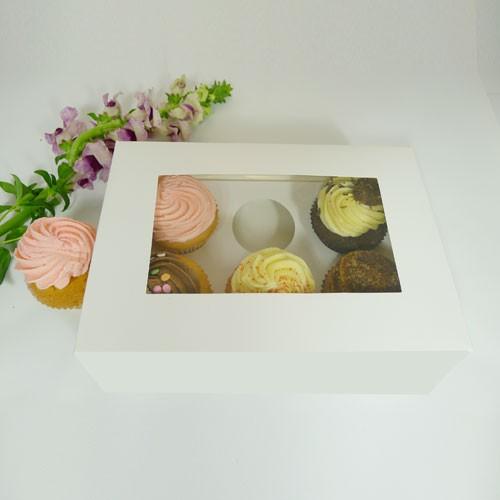 6 Cupcake Window Box w finger hole($1.60/pc x 25 units)