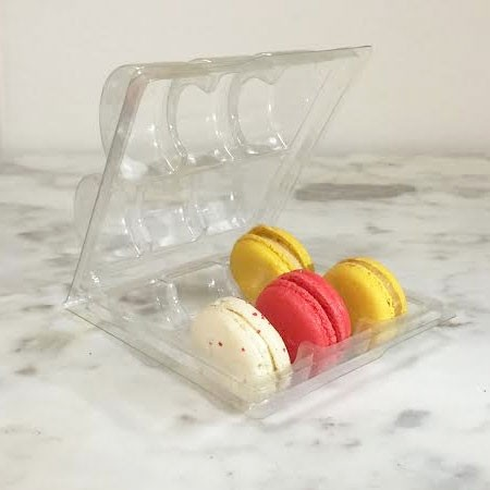 Clear Macaron Blister Box for 6 Macarons - Pack of 20 Boxes