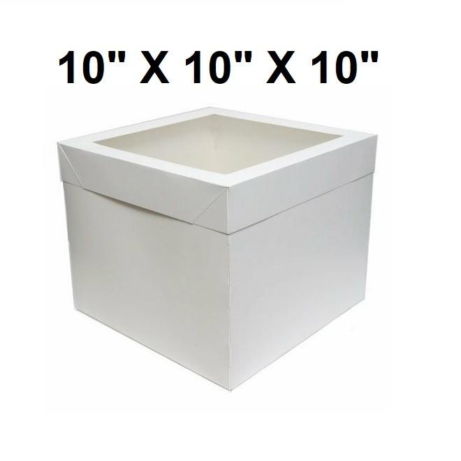 "20 units of Cake Boxes 10 x 10 x 10"" Inch Window Cupcake Box Wedding Birthday Party"
