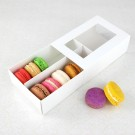12 Macaron White Window Boxes ($2.30/pc x 25 units)