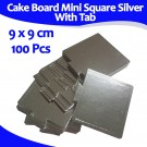 Mini Square Sliver With Tab Cake Board 9 Cm 100units