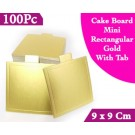 Mini Square Gold With Tab Cake Board 9 Cm 100units