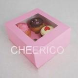 4 Pink Cupcake Window Box ( $1.65/pc x 25 units)