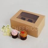 6 Kraft Brown Window MIni Cupcake Box ($1.45/pc x 25 units)