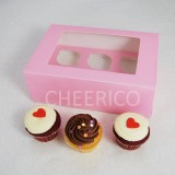 6  Window Pink Cupcake Box($1.60/pc x 25 units)