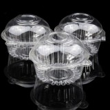 100 Clear Single Cupcake Muffin Dome Pods
